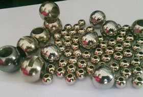 Perforated steel ball
